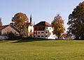 Roßhaupten - Fischhaus v NW, Herbst.JPG