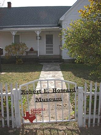 Robert E. Howard Museum - Front gate of Howard Museum