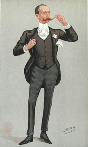 "Robert Hermon-Hodge, 1st Baron Wyfold - ""Accrington"" Hermon-Hodge as caricatured by Spy (Leslie Ward) in Vanity Fair, June 1892"