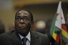 Robert Mugabe, 12th AU Summit, 090202-N-0506A-187.jpg