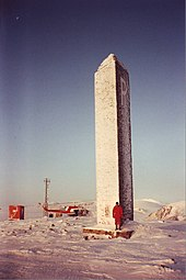 Photograph of the Peary monument at Cape York, Greenland