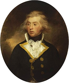 Robert Stopford, c.1790-91, by Henry William Beechey, in the collection of the National Maritime Museum
