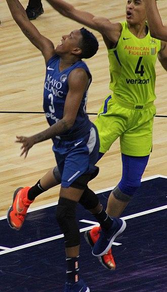 Danielle Robinson - Robinson and Skylar Diggins-Smith of the Dallas Wings in 2018