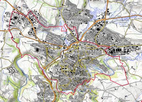 Carte topographique.