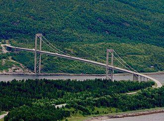 Rombak Bridge - View of the bridge