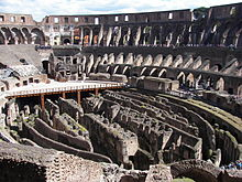 Interior of the Colosseum