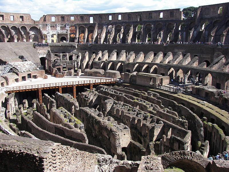 File:Rome Colosseum interior.jpg