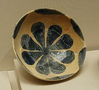 Islamic art: Cup with rose petals, 8th–9th centuries
