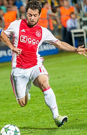 Amin Younes - Younes with Ajax in 2016.