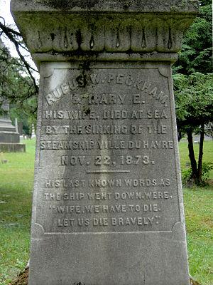 Rufus Wheeler Peckham (1809–1873) - Inscription on Peckham's cenotaph at Albany Rural Cemetery