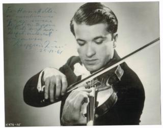 Ruggiero Ricci American classical violinist