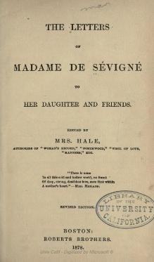 Sévigné - Letters to her Daughter and Friends, 1869.djvu