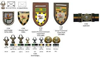 6 South African Infantry Battalion - SADF era 6 SAI insignia