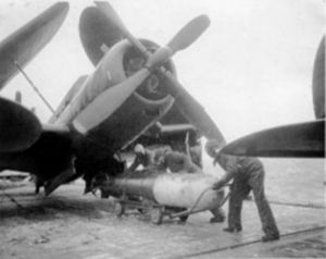 Second VA-65 (U.S. Navy) - VT-74 Helldiver on the USS Midway in 1946