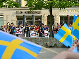 Sweden Democrats - Sweden Democrat supporters in Stockholm during the 2014 European elections