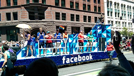 Facebook parade float in San Francisco Pride 2014 SF Pride 2014 - Stierch 7.jpg