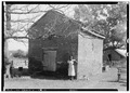 SMOKE HOUSE, WEST FRONT, SOUTH SIDE - Five Oaks, Winchester Pike, New Market, Madison County, AL HABS ALA,45-NEWM.V,1-11.tif