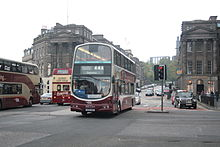 SN55 BNV entering Princes St, 08 May 2013.JPG