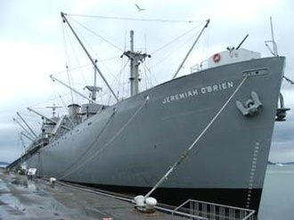 National Register of Historic Places - The Liberty Ship SS Jeremiah O'Brien, an example of a ship listed in the National Register. This ship is also a National Historic Landmark.