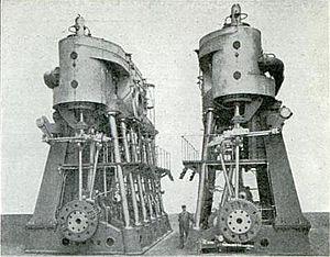 SS Dakota - Main engines of the SS Dakota
