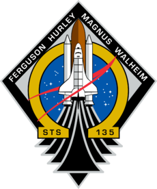 Patch for STS-135, the last space shuttle mission. Image: NASA.