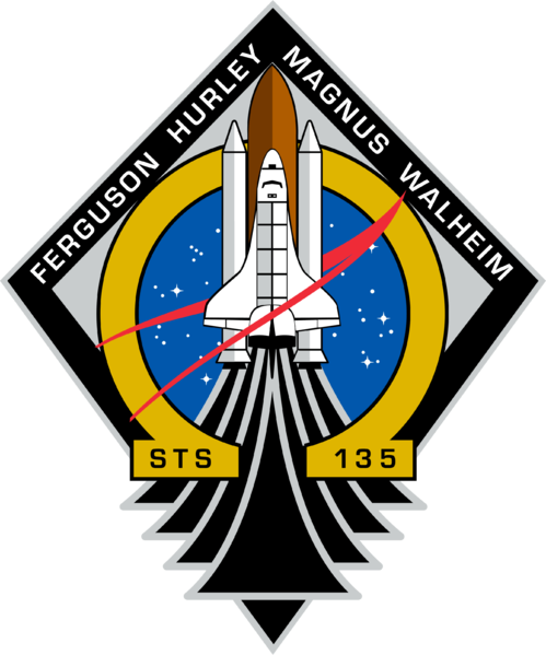 Last shuttle mission logo is the Omega symbol