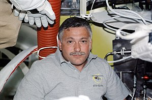 Fyodor Yurchikhin - Fyodor Yurchikhin inside the Quest airlock during the STS-112 mission to the ISS.
