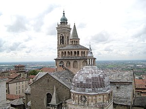 Santa Maria Maggiore, Bergamo - Image: S Maria Maggiore view from Campanone