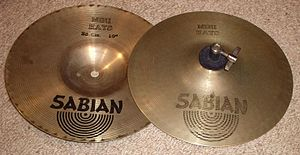 "Hi-hat - Sabian 10"" mini-hats, 1980s"