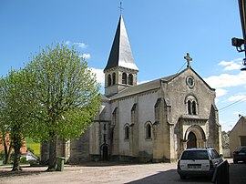 The church of Saint-Aignan, in Luthenay-Uxeloup