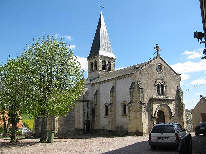 Église Saint-Aignan de Luthenay-Uxeloup, Nièvre, France