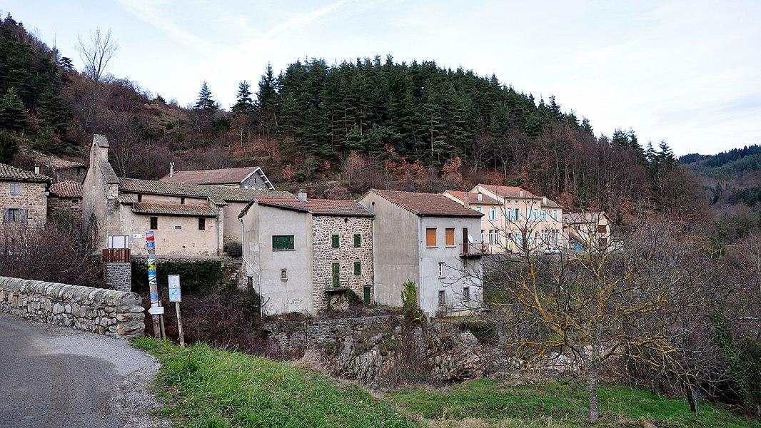 Saint-Christol depuis le chemin de la Farge