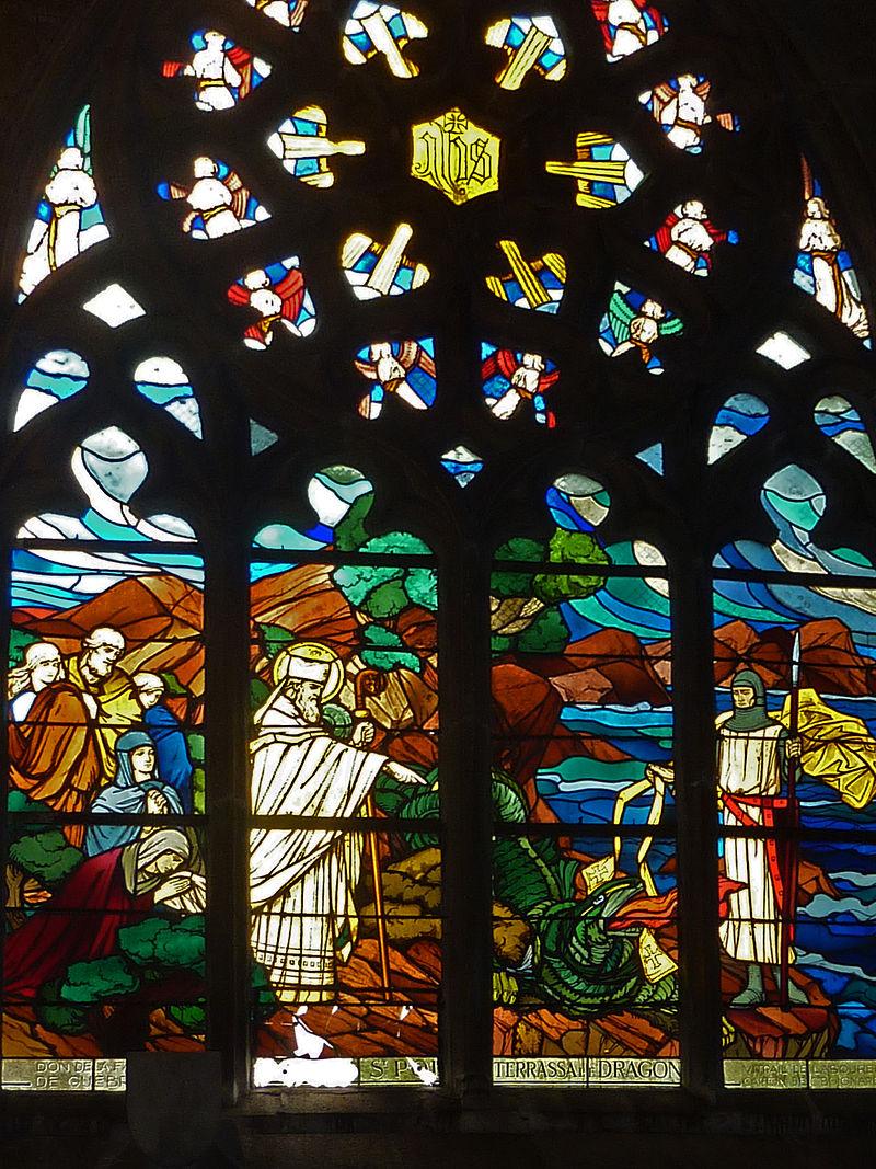 saint Pol Aurélien terrassant le dragon
