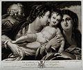 Saint Catherine. Mezzotint by V. Green, 1775, after Josiah B Wellcome V0031822.jpg