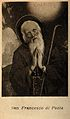 Saint Francis of Paola praying; head and shoulders. Wellcome V0031958.jpg