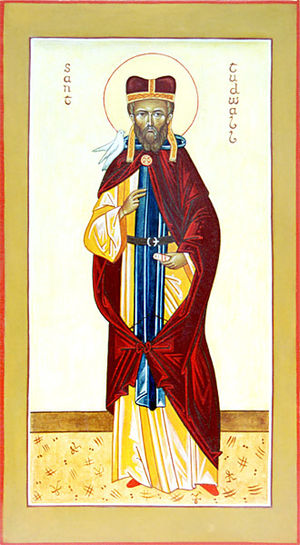 Tréguier Cathedral - An icon depicting Saint Tugdual