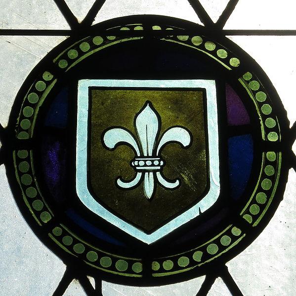 File:Saint Vincent de Paul Catholic Church (Mount Vernon, Ohio) - stained glass, fleur-de-lis.JPG