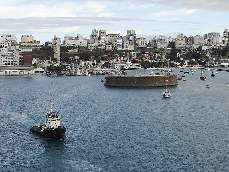 File:Salvador downtown port from sea.jpg