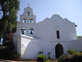 California Historical Landmark - Image: San diego mission church