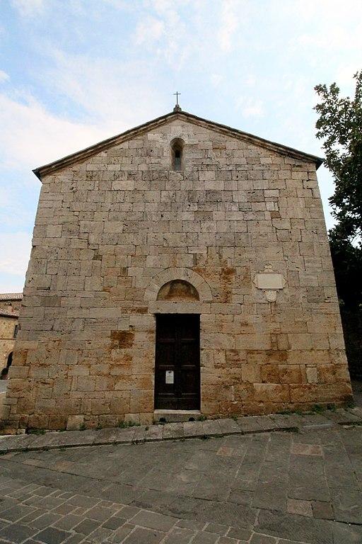Facade della chiesa Santa Maria Assunta, San Quirico d'Orcia