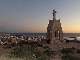 Almería - The statue of San Cristóbal