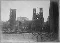 San Francisco Earthquake of 1906, Fairmont Hotel (background) and Jewish synagogue (foreground) - NARA - 522950.tif