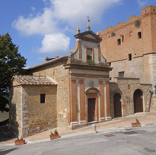 San Giovanni d'Asso, chiesa della Misericordia - Esterno