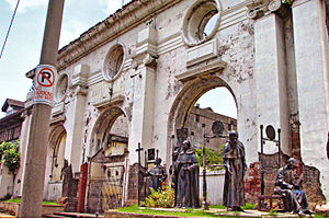 San Ignacio Church (Manila) - Ruins of San Ignacio Church showing its rear elevation