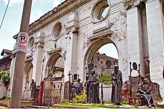 Museo de Intramuros - Ruins of San Ignacio Church showing its rear elevation