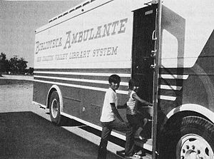 "San Joaquin Valley - San Joaquin Valley ""Biblioteca Ambulante"" (Traveling Library) in 1972"