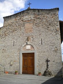 La facciata della pieve di San Niccolò