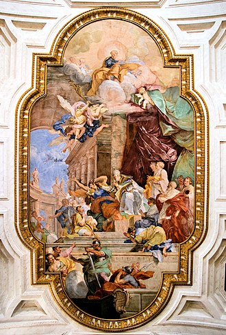 1706 in art - Parodi – The Miracle of the Chains of Peter, ceiling fresco in San Pietro in Vincoli, Rome