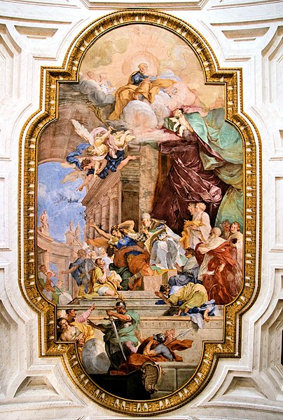 File:San Pietro in Vincoli - ceiling, Rome retouched.jpg