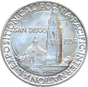 California Pacific International Exposition half dollar - Reverse